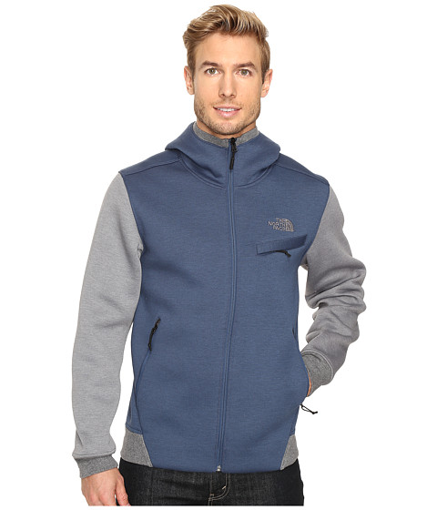 The North Face Thermal 3D Full Zip Hoodie - Shady Blue/Black Heather