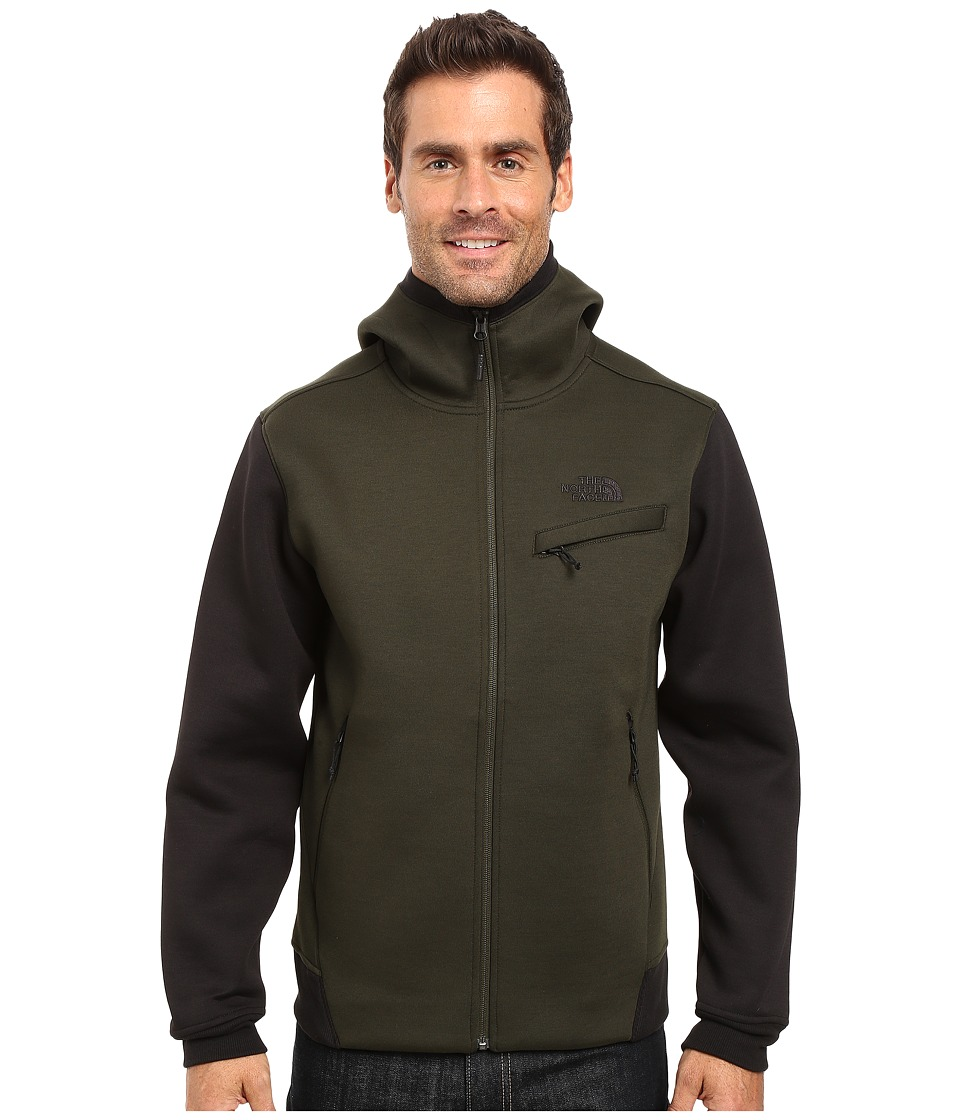 The North Face - Thermal 3D Full Zip Hoodie (Rosin Green/Black Heather) Men