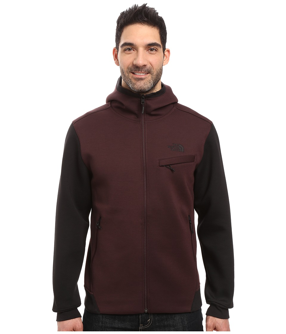The North Face - Thermal 3D Full Zip Hoodie (Root Brown/Black Heather) Men