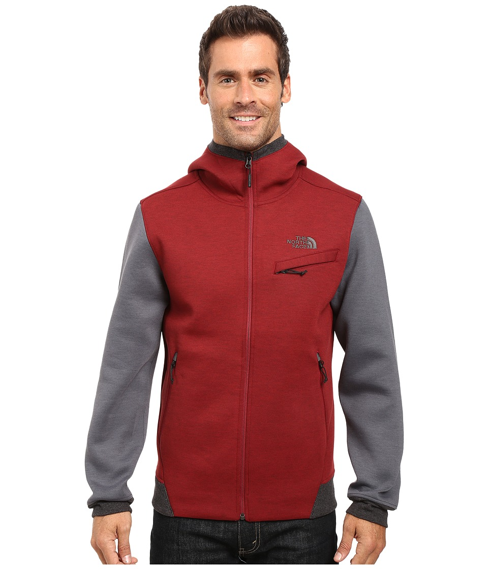 The North Face - Thermal 3D Full Zip Hoodie (Biking Red/Black Heather) Men