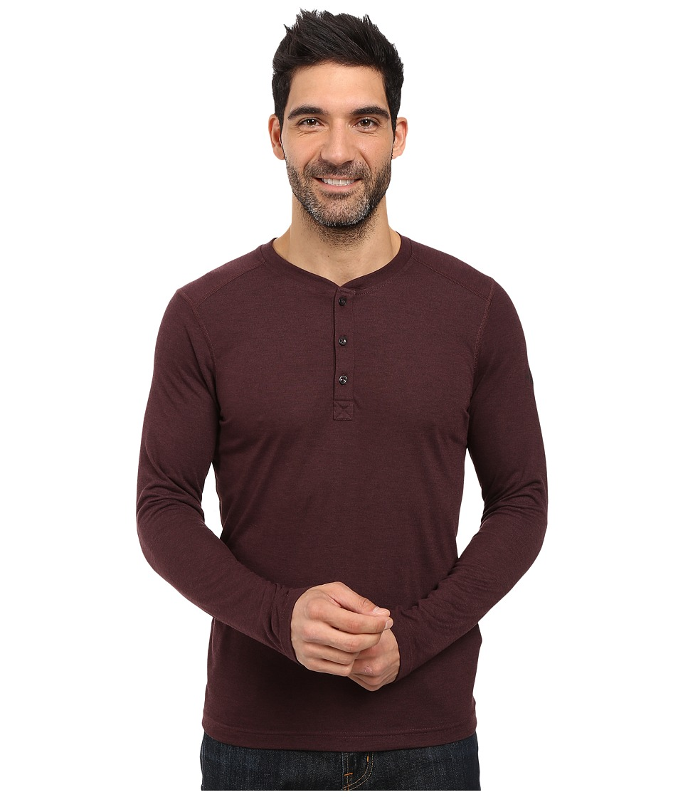 The North Face Long Sleeve Crag Henley (Root Brown Dark Heather) Men