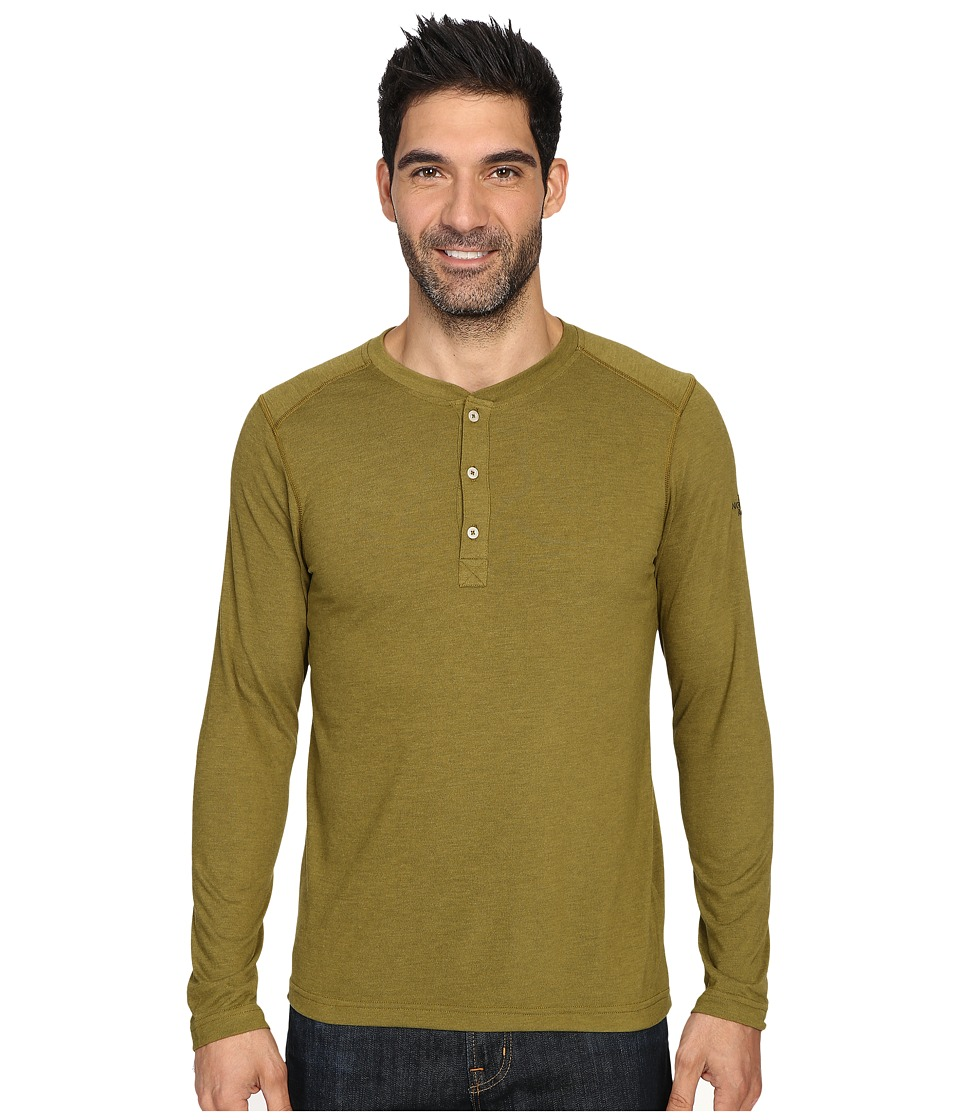The North Face Long Sleeve Crag Henley (Fir Green Dark Heather) Men