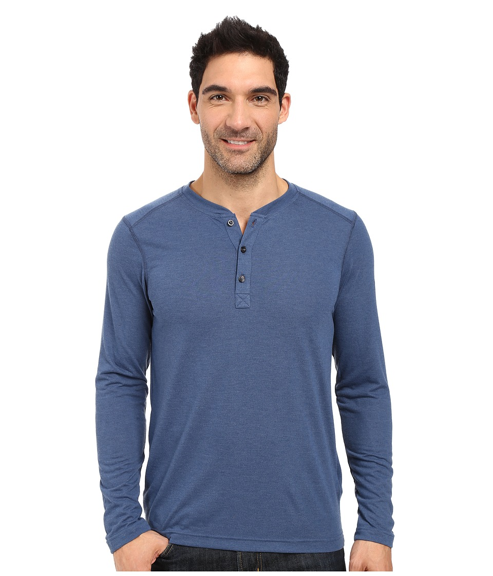 The North Face Long Sleeve Crag Henley (Shady Blue Light Heather) Men
