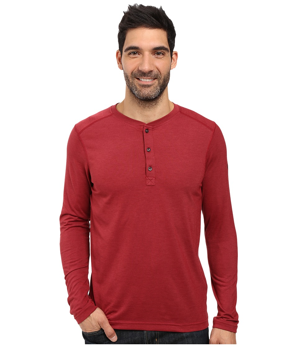 The North Face Long Sleeve Crag Henley (Biking Red Dark Heather) Men