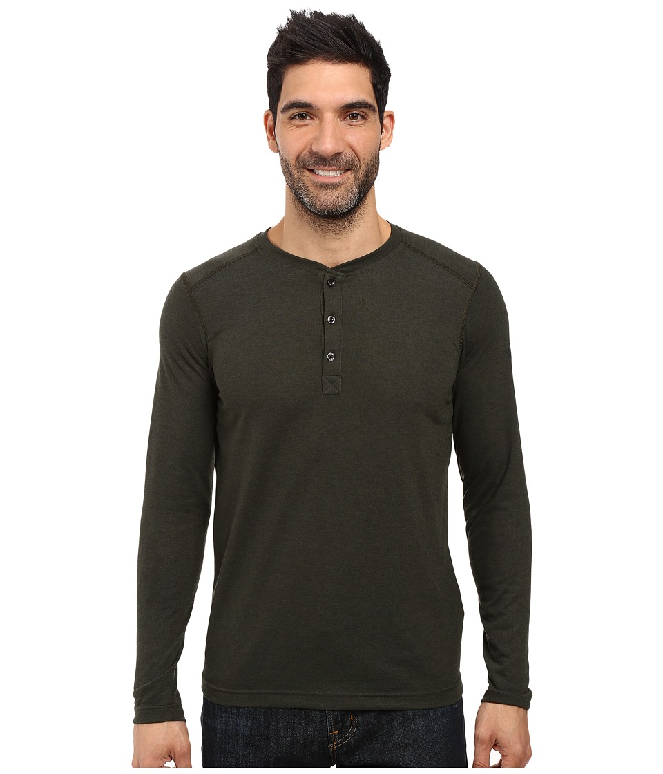 The North Face Long Sleeve Crag Henley (Rosin Green Light Heather) Men