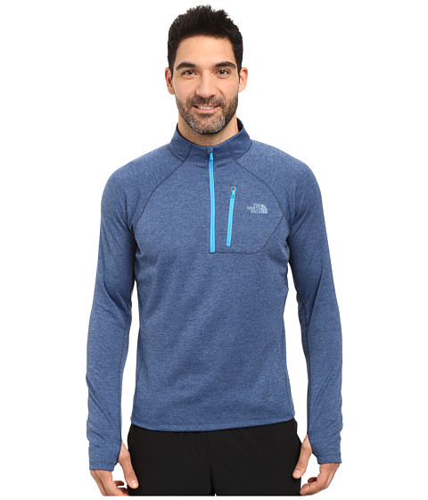 The North Face Impulse Active 1/4 Zip Pullover - Shady Blue Heather/Shady Blue