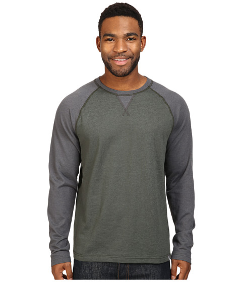 The North Face Long Sleeve Copperwood Crew - Rosin Green Heather/Asphalt Grey Heather