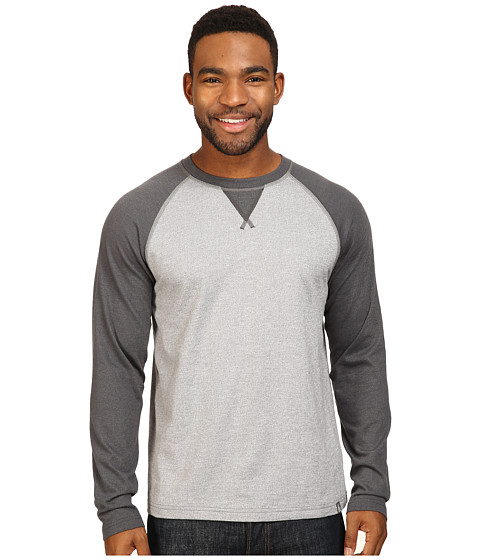 The North Face Long Sleeve Copperwood Crew - Zinc Grey Heather/Asphalt Grey Heather