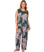 Midnight by Carole Hochman - Plus Size Chiffon Checkerboard Pajama