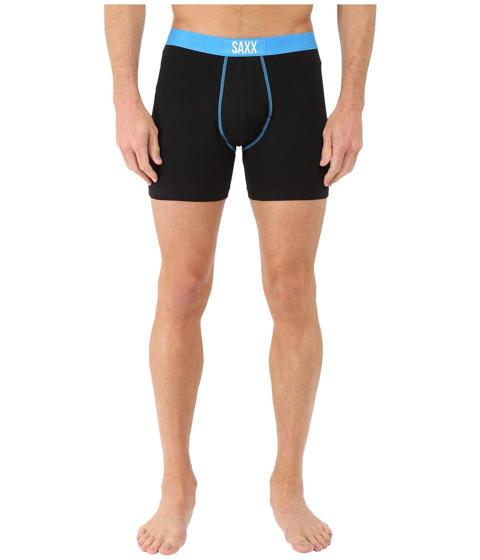 SAXX UNDERWEAR 24 Seven Boxer Black/Malibu Mens Underwear