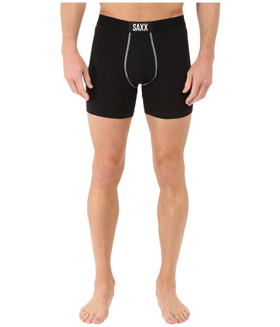 SAXX UNDERWEAR 24 Seven Boxer Black Mens Underwear
