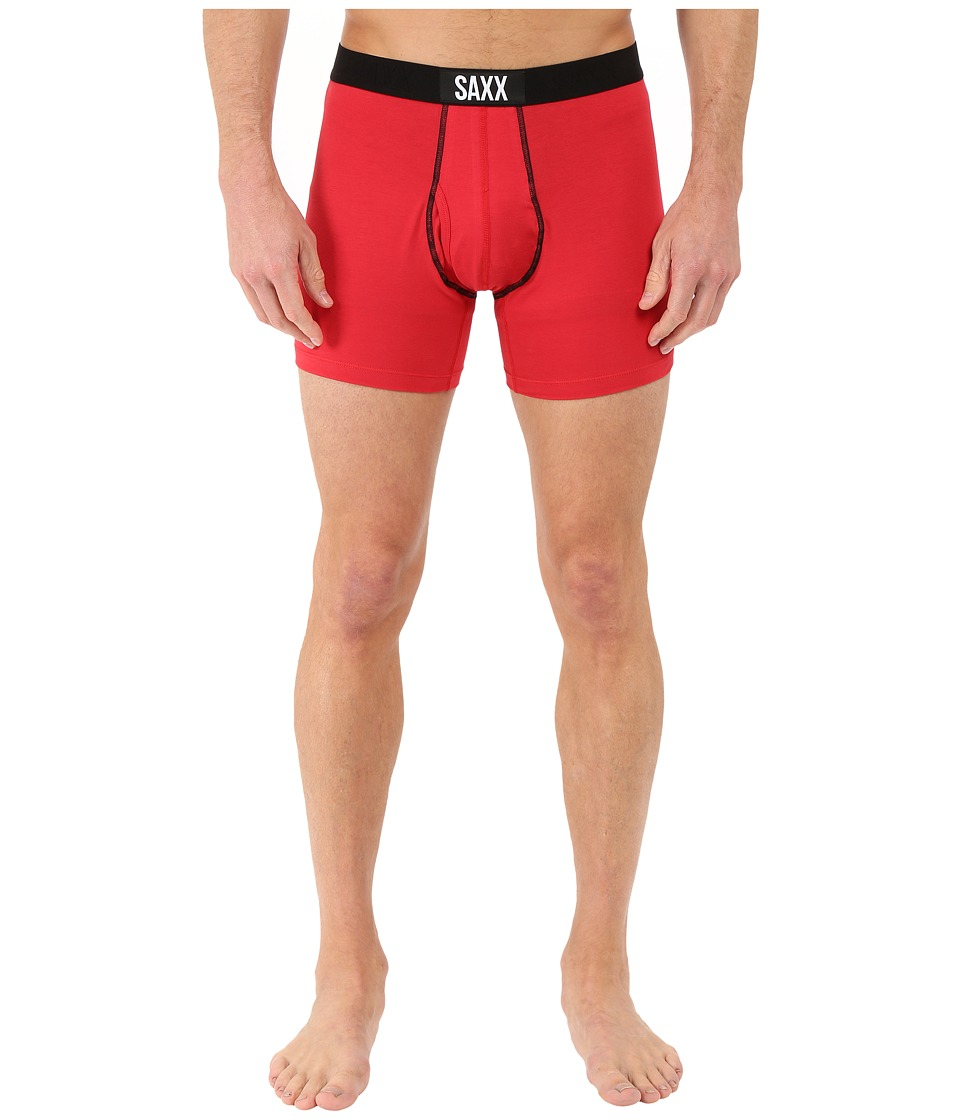 SAXX UNDERWEAR 24 Seven Boxer Fly Red Mens Underwear