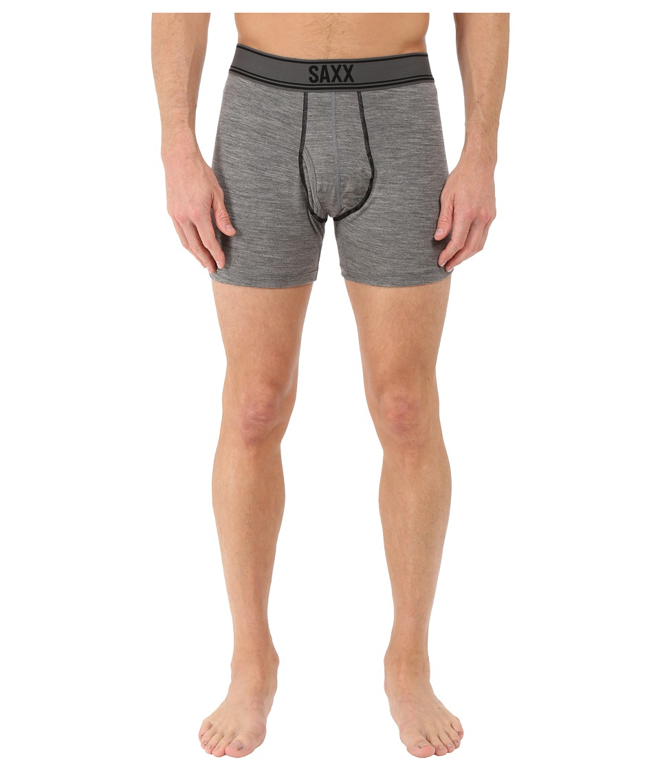 SAXX UNDERWEAR Blacksheep Boxer Fly Charcoal Heather Mens Underwear