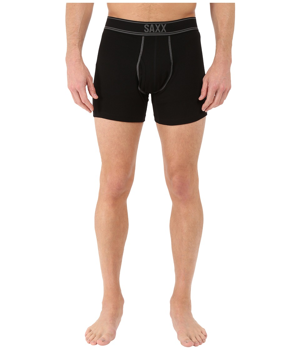 SAXX UNDERWEAR Blacksheep Boxer Fly Black Heather Mens Underwear