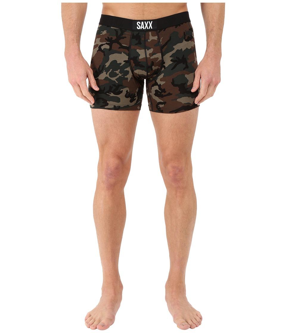 SAXX UNDERWEAR Vibe Boxer Modern Fit Woodland Camo Mens Underwear