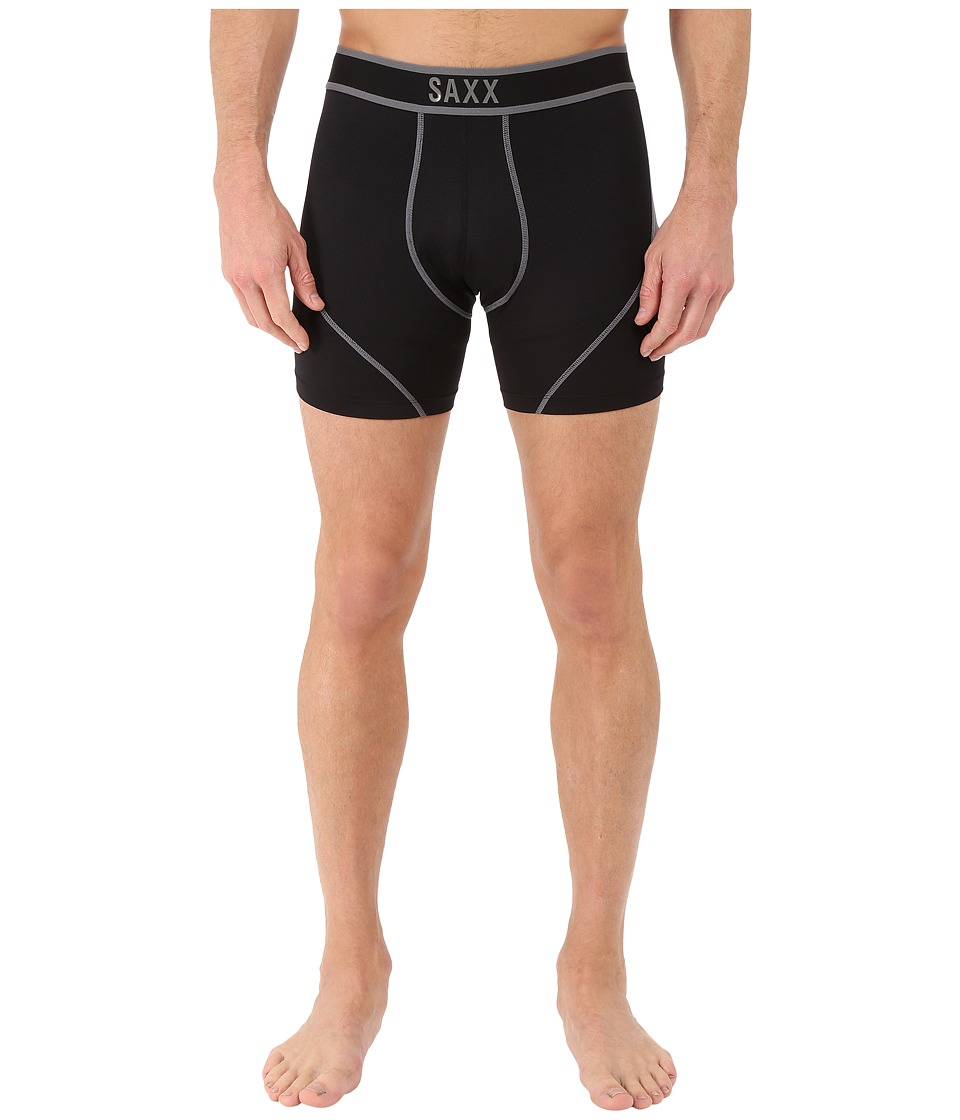 SAXX UNDERWEAR Kinetic Boxer Black/Steel Mens Underwear