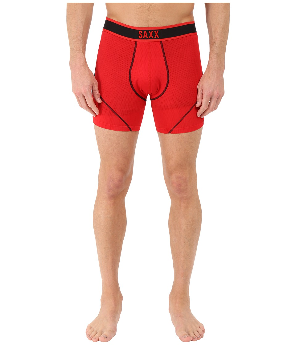 SAXX UNDERWEAR Kinetic Boxer Red/Black Mens Underwear