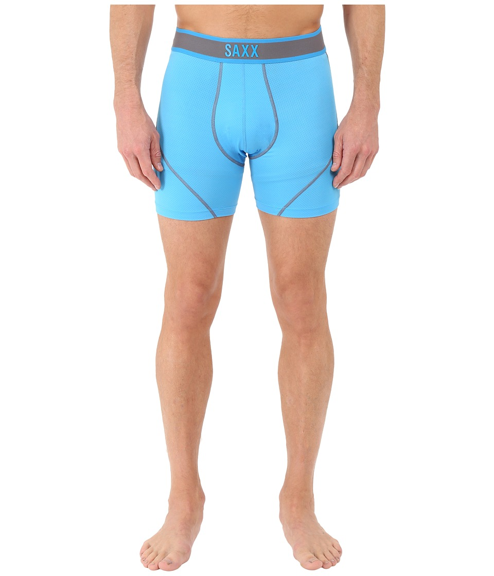 SAXX UNDERWEAR Kinetic Boxer Malibu Steel Mens Underwear