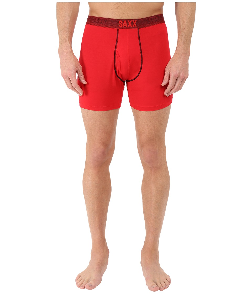 SAXX UNDERWEAR Platinum Boxer Fly Red Mens Underwear