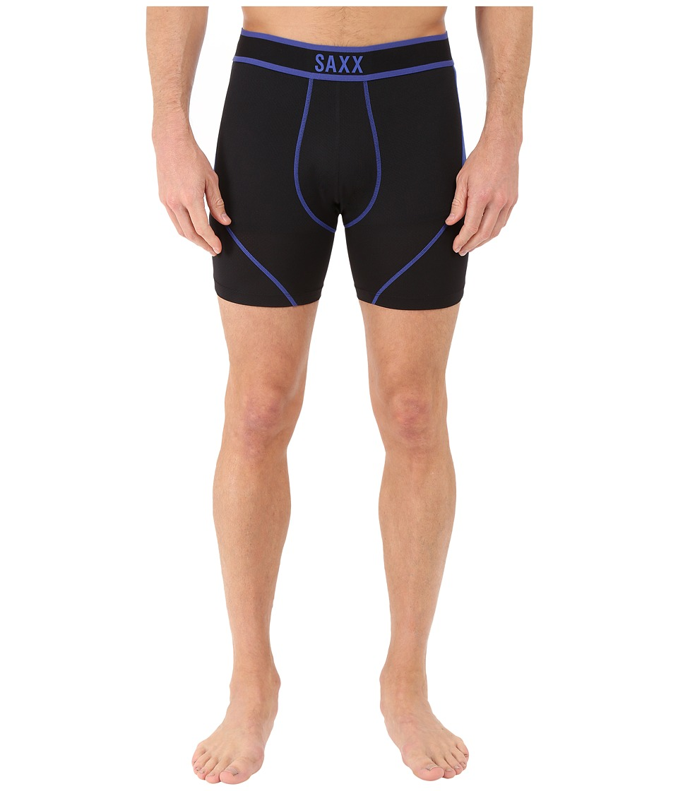 SAXX UNDERWEAR Kinetic Boxer Black/Cobalt Mens Underwear