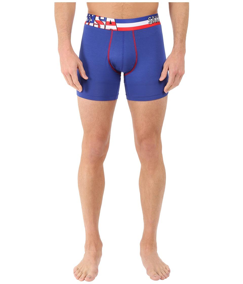 SAXX UNDERWEAR Vibe Boxer Modern Fit World USA Flag Mens Underwear