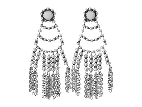 DANNIJO DOLCI Earrings - Ox Silver/Matte White