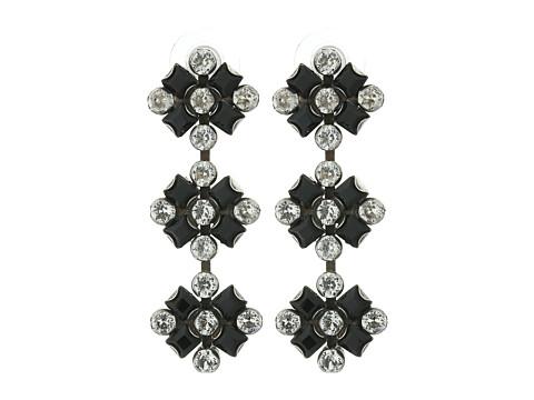 DANNIJO RIMINI Earrings - Ox Silver/Black/Nude