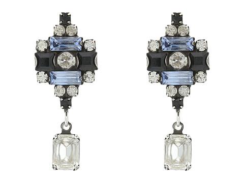 DANNIJO AIX Earrings - Ox Silver/Black/Blue