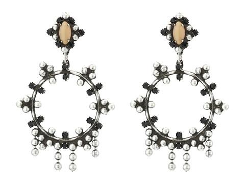 DANNIJO VALENTIA Earrings - Ox Silver/Black/Nude