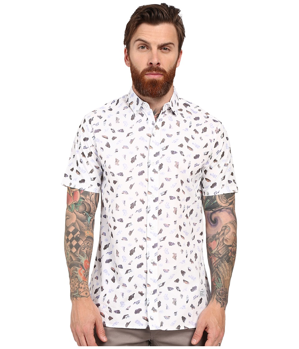 Akomplice Stones Short Sleeve Button Up Eggshell Mens Clothing