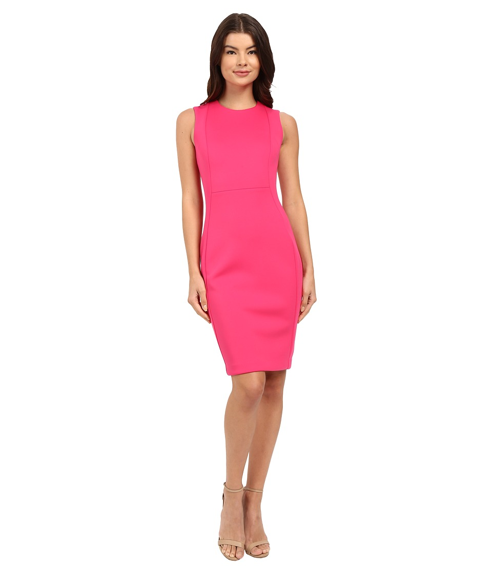 Calvin Klein Sleeveless Sheath Dress CD6M1A00 Hibiscus Womens Dress