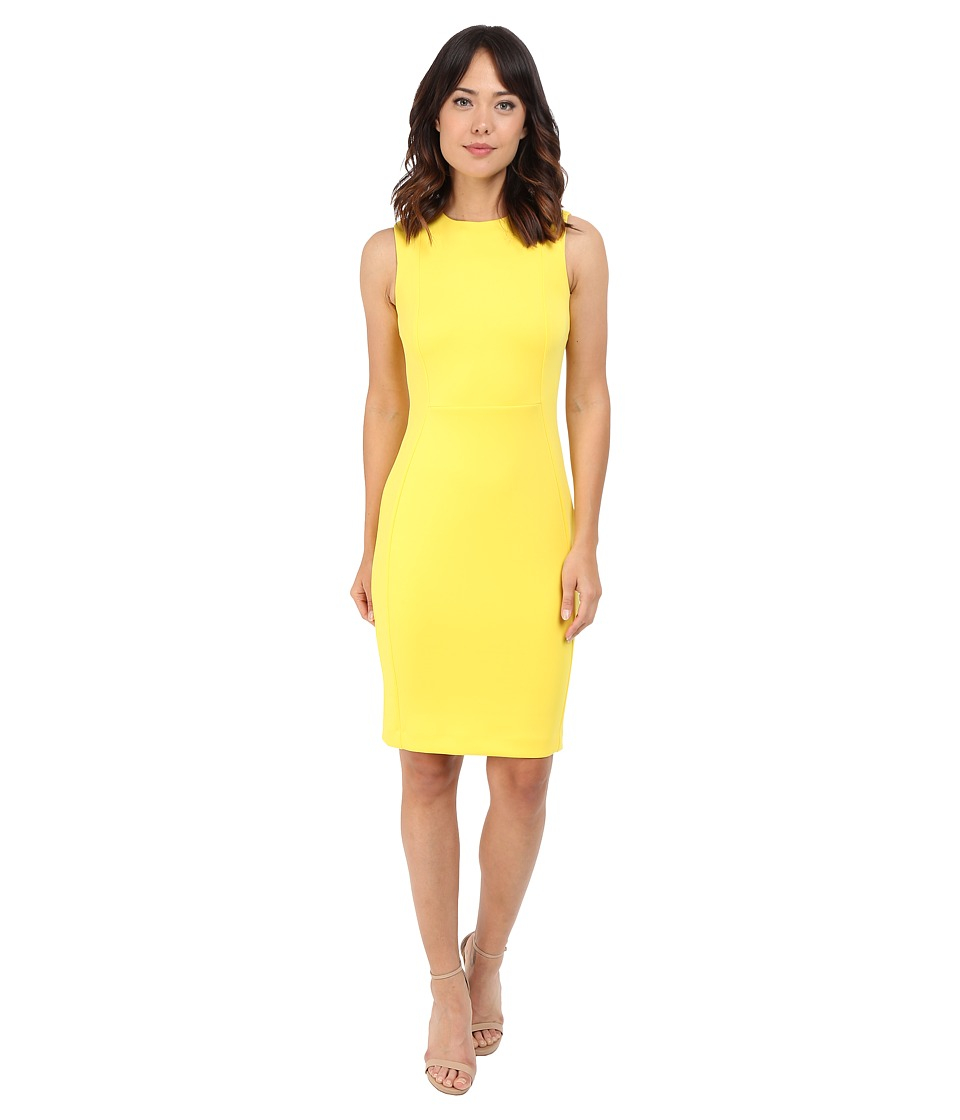 Calvin Klein Sleeveless Sheath Dress CD6M1A00 Canary Womens Dress
