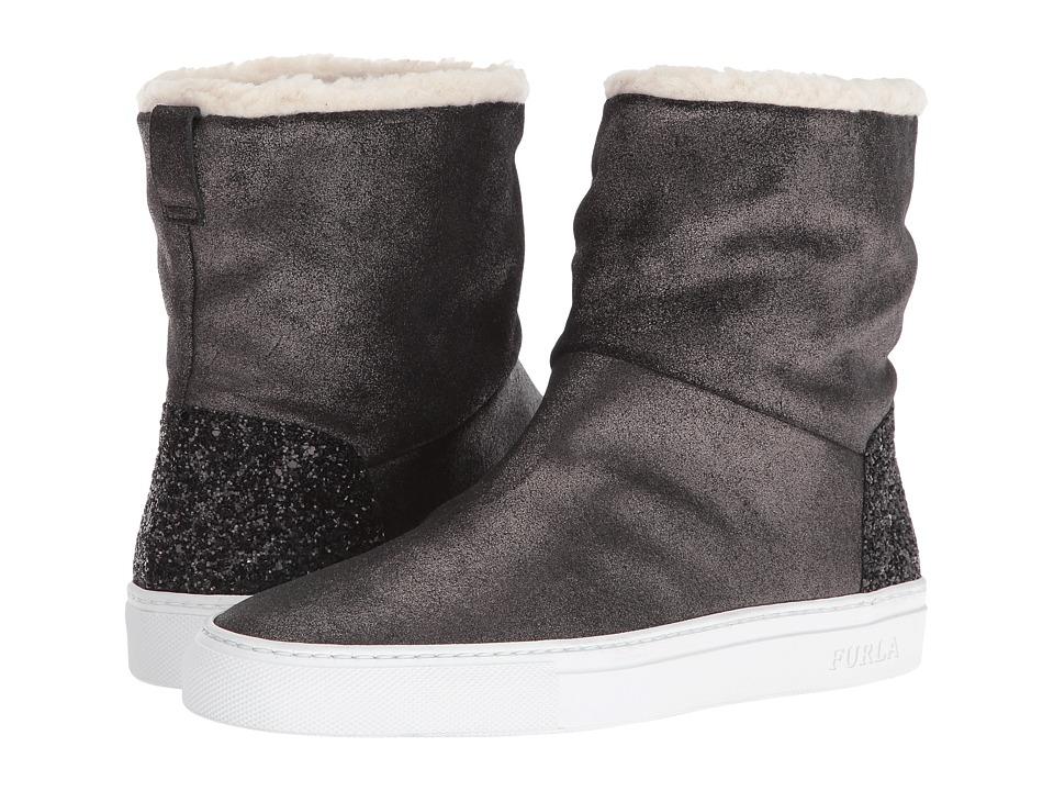 Furla Megamix Ankle Boot (Onyx/Naturale) Women