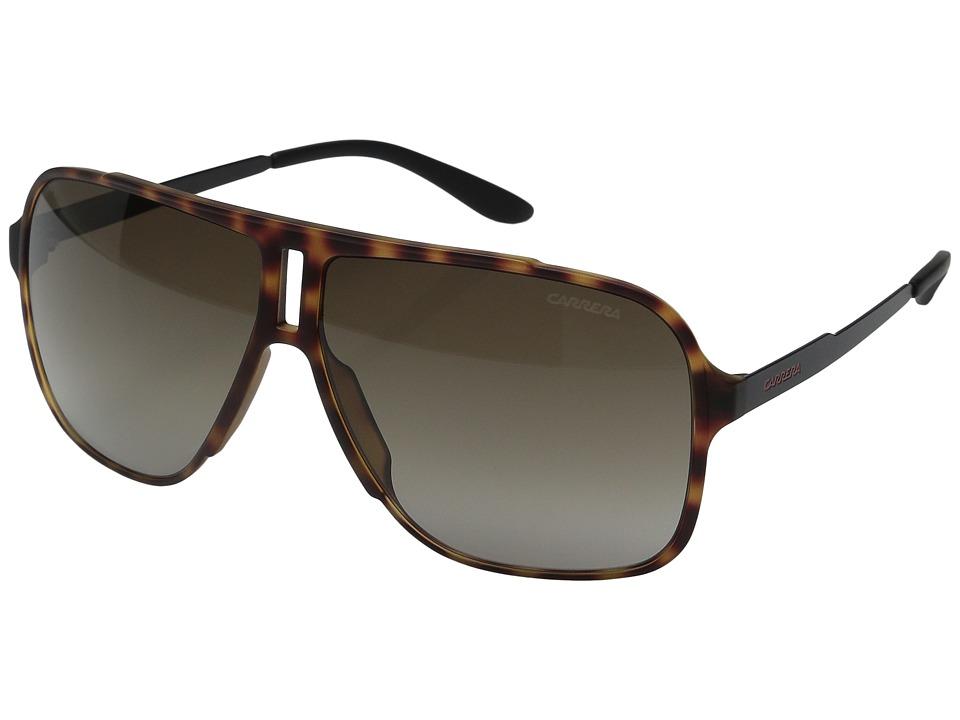 Carrera - Carrera 122/S (Havana Black/Brown Gradient Lens) Fashion Sunglasses