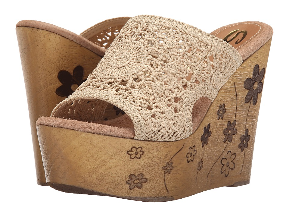 Sbicca Carolena Natural Womens Wedge Shoes