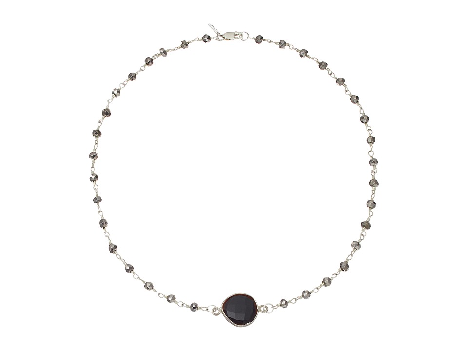 Vanessa Mooney My Heart Pyrite Choker Necklace Silver Necklace