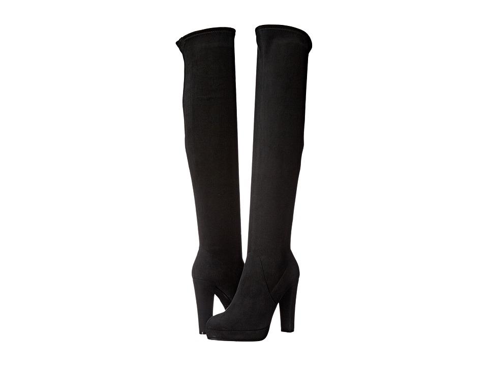 Sergio Rossi Sharon (Black Stretch Suede) Women's Boots