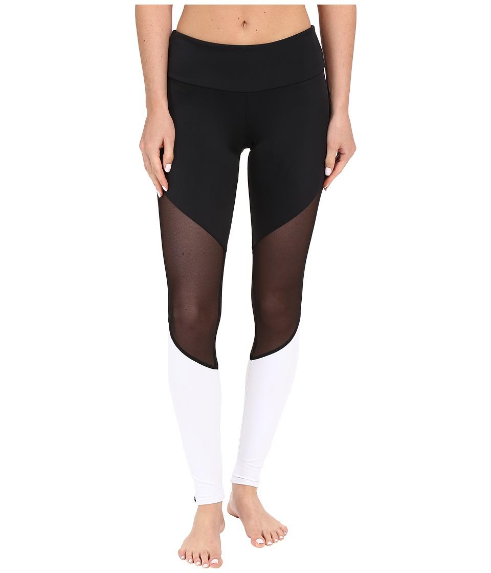 Onzie Track Leggings Black/Black Mesh/White Womens Casual Pants