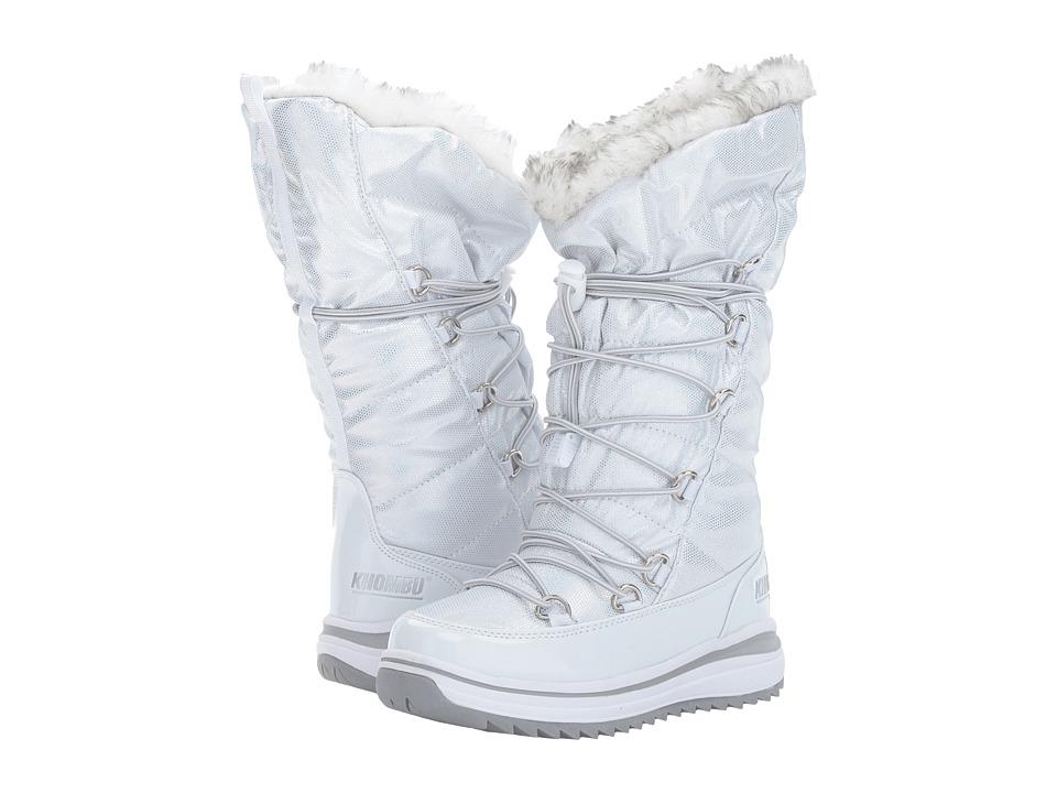 Khombu Kids Kai (Little Kid/Big Kid) (White) Girls Shoes