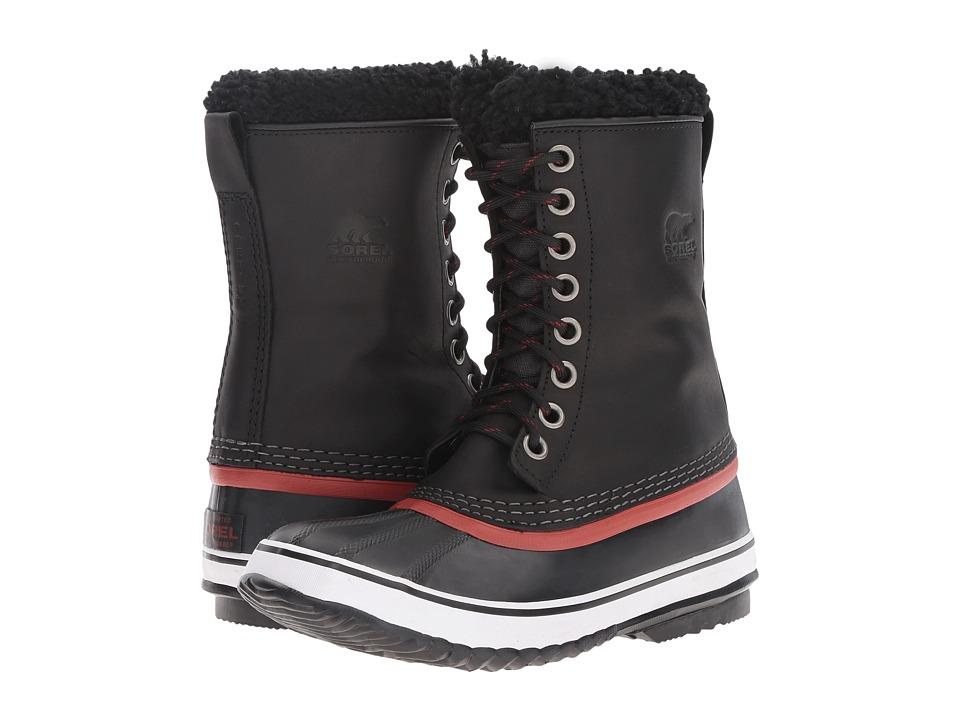 SOREL 1964 Premium Leather (Black/Red Dahlia) Women