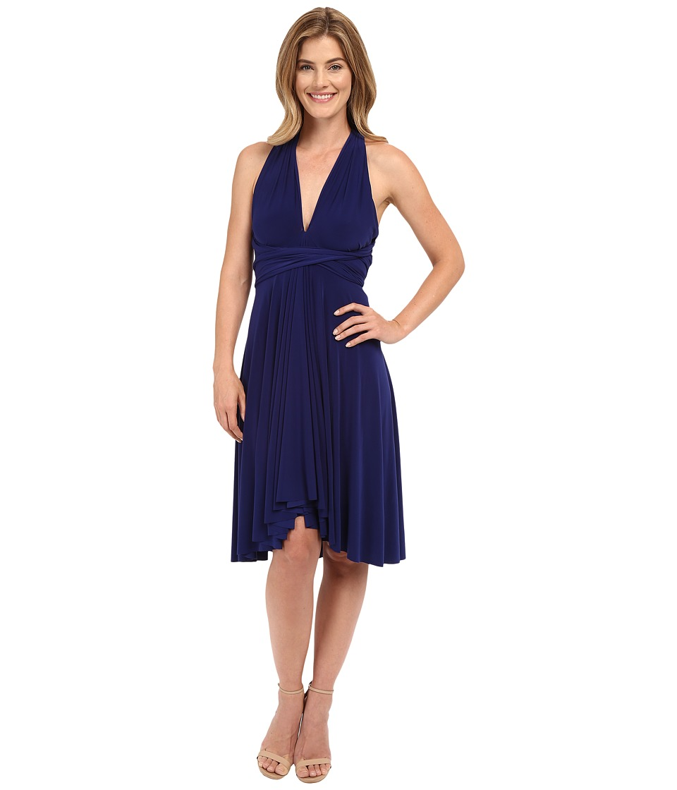 KAMALIKULTURE by Norma Kamali Convertible Dress Blueberry Womens Dress