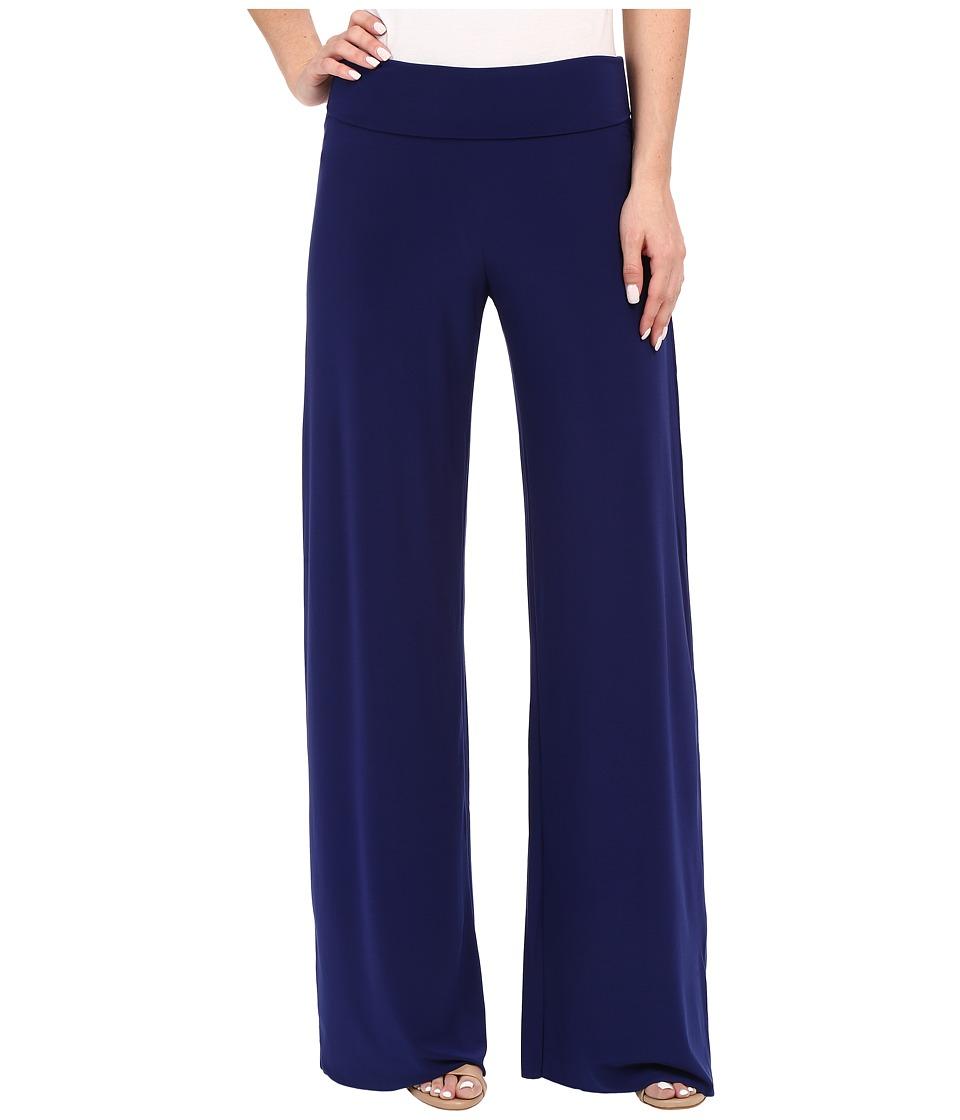 KAMALIKULTURE by Norma Kamali Straight Leg Pants Go Blueberry Womens Casual Pants