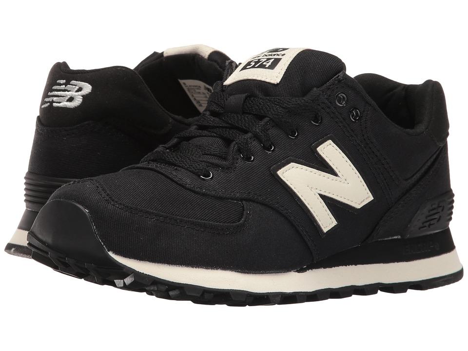 New Balance Classics WL574 (Black/Angora Textile) Women's Shoes