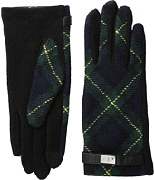 LAUREN Ralph Lauren - Tartan Pattern Metal Logo Touch Gloves