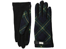 LAUREN Ralph Lauren Tartan Pattern Metal Logo Touch Gloves