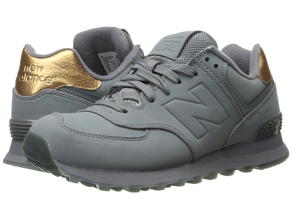 New Balance Classics WL574 (Gunmetal Synthetic) Women's Shoes