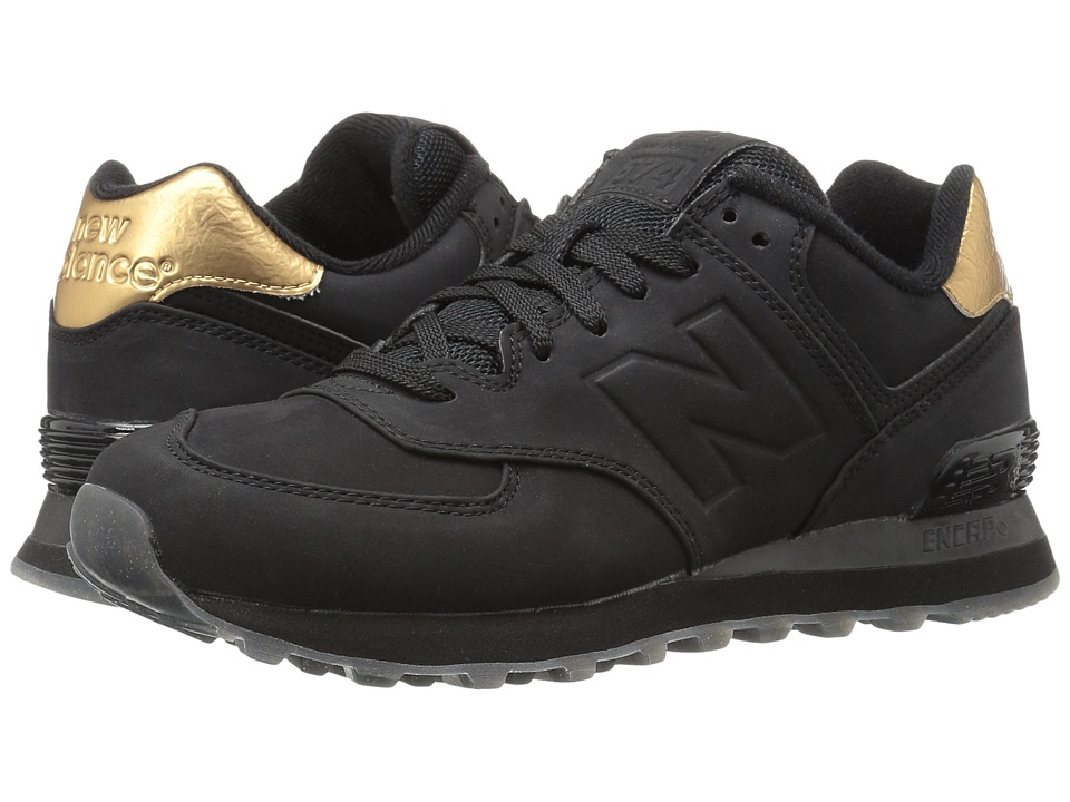 New Balance Classics WL574 (Black Synthetic) Women's Shoes