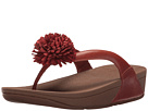FitFlop - Flowerball Leather Toe Post (Dark Tan)