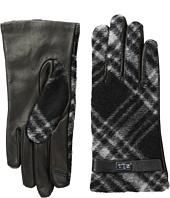 LAUREN Ralph Lauren - Brushed Tartan Logo Touch Gloves