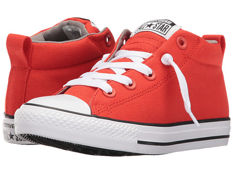 Converse Kids Chuck Taylor® All Star® Street (Little Kid/Big Kid) - Signal Red/Cadet Grey/White